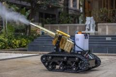 公共场所 医院 酒店 餐厅 学校防疫消杀灭菌消毒智能履带机器人预定